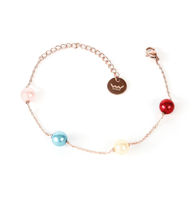 Bransoletka Pearl Rose Gold
